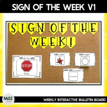 Sign of the Week Kit for Special Education
