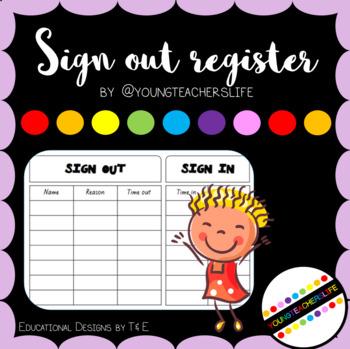 Sign Out Register