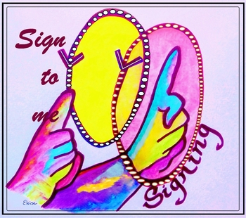 "American Sign Language ""Sign to Me"" ASL POSTER"