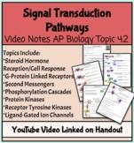 Signal Transduction Pathways Handout/Video Notes (AP Biolo