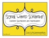 """""""Signal Word Scramble"""": A Word Problem Game for Math Centers (Level B)"""