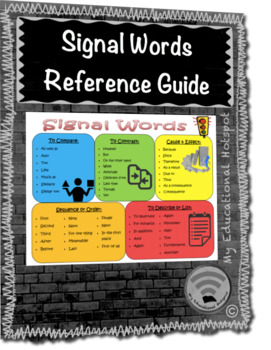 Signal Words Reference Guide