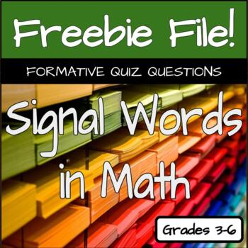 Signal Words in Math Quizzes
