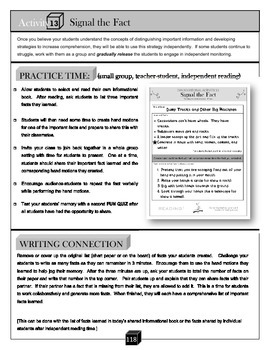 Signal the Fact – Comprehension Activity