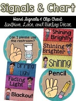 Signals & Clip Chart {Sunshine, Lace, & Burlap Decor.}