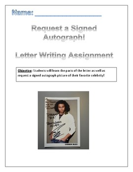 Signed Autograph Letter Assignment