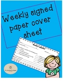 Signed paper cover sheet