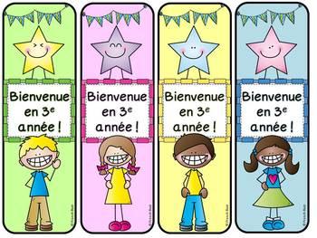 Signets - La rentrée scolaire - GRATUIT - Free French bookmarks