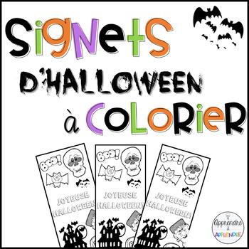 Signets d'Halloween à colorier