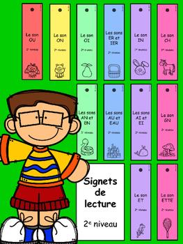 Signets de lecture - 2e niveau