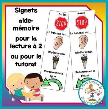 Signets pour la lecture à 2 / bookmark reading partner