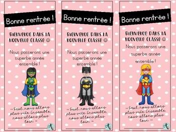 Signets rentrée - Super-héros