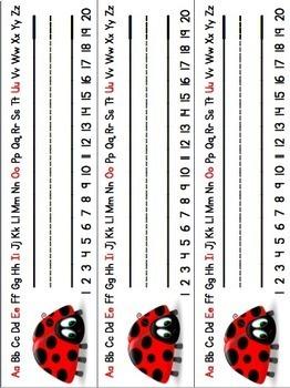 Signets/affichettes de nom - thème coccinelle