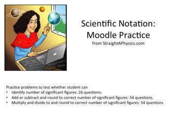 Signifcant Figures: Moodle Question Practice.