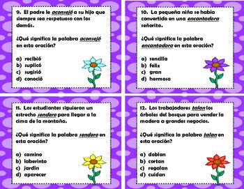 Claves de Contexto - Significado de Palabras - Word Meaning - Spanish