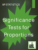 AP Statistics - Significance Tests for Proportions