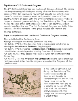 Significance of 1st and 2nd Continental Congress and Committee of Correspondence