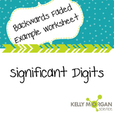 Significant Digits - Backwards Faded Example Worksheet