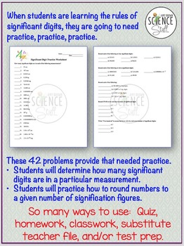 Significant Digits Practice Worksheet