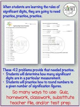 Significant Figures Practice Worksheet