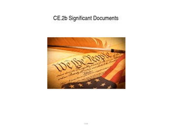 Significant Documents power point (CE.2b)