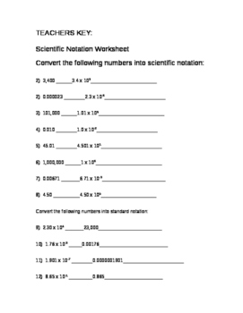 Significant Figure Worksheet