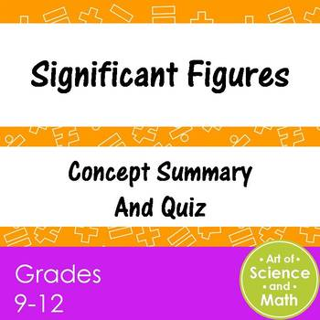 Significant Figures - High School Science and Math