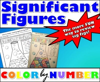 Significant Figures - Color By Number by MsRazz ChemClass | TpT