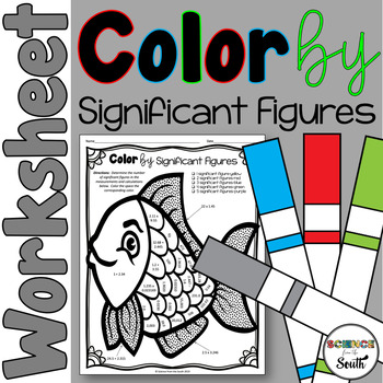 Significant Figures Color by Number Fish Worksheet