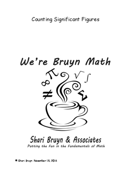 Significant Figures - Counting