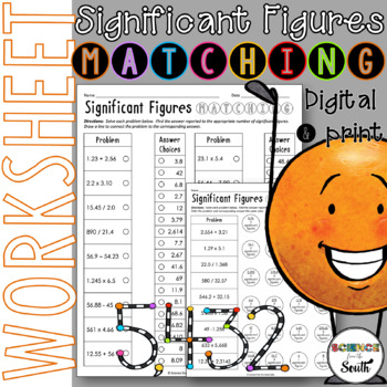 Significant Figures Cut and Paste Worksheet for Review or Assessment