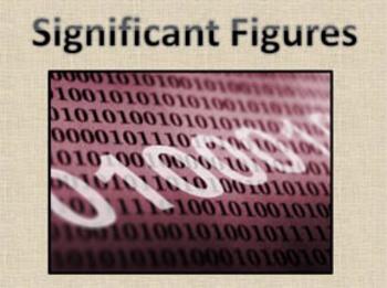 Significant Figures (Digits) Presentation
