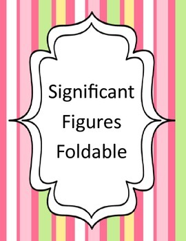 Significant Figures Foldable