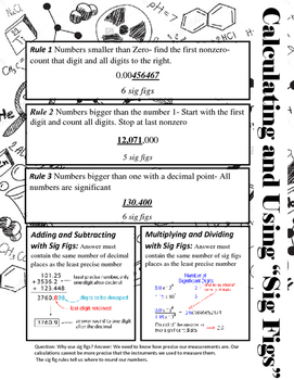 Significant Figures Help Sheet