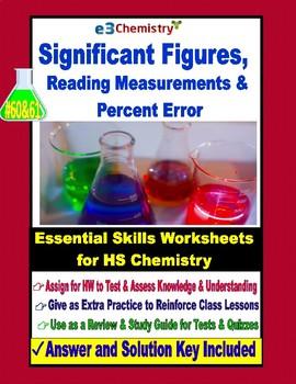 Significant Figures, Measurements, Percent Error: Essential Skills WkSh #60 & 61