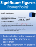 Significant Figures Powerpoint Lesson and Worksheet