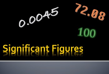Significant Figures, Significant Digits, Sig Figs, Powerpoint