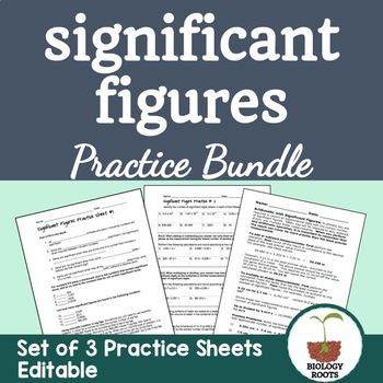 Significant Figures Worksheet Bundle