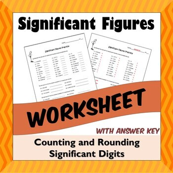 Significant Figures Worksheet - Counting and Rounding Significant Digits