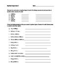 Significant Figures Worksheet/Quiz