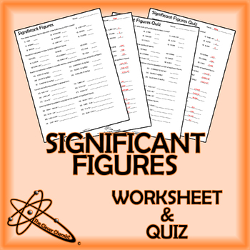 Significant Figures Worksheet Teaching Resources Teachers Pay Teachers