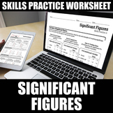 Significant Figures Worksheets | Printable | Digital | Dis