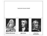 Significant Individuals in the Development of Self-Government - 3 tab foldable