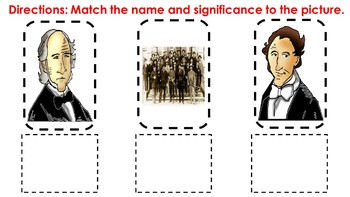 Significant Individuals of the Texas Republic Matching Activity