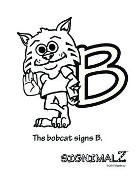 American Sign Language Animal Alphabet Coloring Book - A Signimalz™ Resource