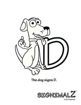 American Sign Language Animal Alphabet Coloring Book