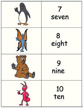 Sign Language 0-10 Matching Game - A Signimalz™ American Sign Language Resource
