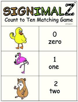 Signimalz: Sign Language 0-10 Matching Game