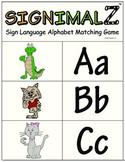 Sign Language A-Z Matching Game- A Signimalz™ American Sig