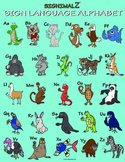Sign Language Alphabet Poster - A Signimalz™ American Sign